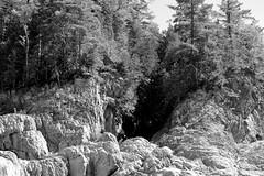 Rock Formation - Grand Falls, New Brunswick B&W (RockN) Tags: stjohnriver bw grandfalls newbrunswick canada 1000placescanada august2016