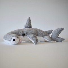 Hammerhead Shark (Knitting patterns by Amanda Berry) Tags: shark sharks hammer hammerhead head knitting knit knits knitted knitter knitters pattern patterns pdf ravelry amanda berry fluff fuzz handmade hand craft crafts crafting hobbies hobby toy toys boys sea animals fish grey oceans yarn dk acrylic washable
