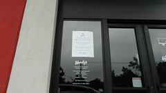 Wendy's hurricane closure notice (RetailByRyan95) Tags: wendys hampton va virginia