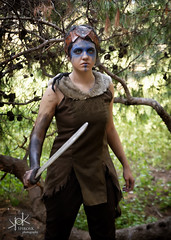 Plane Shifting Art as Senua from Hellblade, shot by SpirosK photography (lost in the forest, alt.) (SpirosK photography) Tags: cosplay costumeplay senua hellblade senuassacrifice game videogamecharacter videogame skull sad paranoia schizophrenia madness portrait studio photoshoot cosplayphotoshoot composite planeshiftingart lost forest park