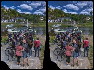 Elbfähre 3-D / Kurort Rathen / Stereoscopy / HDRaw