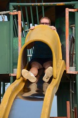 Grandma On The Slide (Joe Shlabotnik) Tags: 2018 aroostook slide august2018 vanburen maine playground nancy afsdxvrzoomnikkor18105mmf3556ged