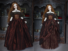 Steampunk Adventure (AyuAna) Tags: bjd ball jointed doll dollfie ayuana design minidesign handmade ooak clothing clothes dress set outfit robe vetement fantasy steampunk fashion couture sewing sewingfordolls sd sd13 sd10 size sadol love60 whiteskin