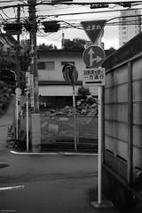 Directions (RunnyInHongKong) Tags: vuescan nikoncoolscan9000 nikkor50mmf14g film blackwhite kodaktmax400 nikonf100 japan tokyo minatoku