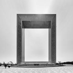 Monochrome Frame (Packing-Light) Tags: dubai emirates middleeast oman omani uae city cityscape monochrome blackandwhite square frame day