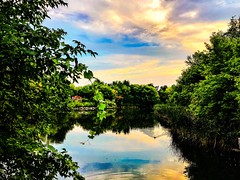 Beautiful Friday Evening in Toronto (shahzad.alvi) Tags: iphotographers iphonephotographers iphonephotography postcard lake hot pictureoftheday flicker sun gta weekend run apple iphone takenfromiphone clouds colours summer canada water sunset beautiful friday toronto