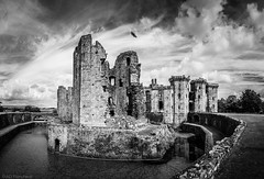 Stronghold, to 'the deeds of days of other years' (Anthony P.26) Tags: architecture category decay external hdr monmouthshire panorama places raglancastle travel wales travelphotography architecturephotography castle fort stronghold canon1585mm canon70d canon outdoor monochrome mono blackandwhite whiteandblack bw