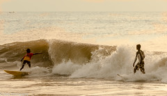 Surfer and surfing (Balaji Photography - 5 ,400,000+ views -) Tags: chennai beach covelong kovalam canon canon70d standupsurfing waves bayofbengal seasurfing india indian
