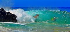 That's gonna hurt (Kirt Edblom) Tags: maui mauihawaii hawaii makena secret beach secretcovebeach cove wife water waves waterscape landscape rocks rock gaylene breakers milf blue bluesky bluewater green aqua lava lavaflows serene scenic pacific pacificocean surf ocean kirt kirtedblom edblom easyhdr luminar nikon nikond7100 nikkor18140mmf3556 people wave
