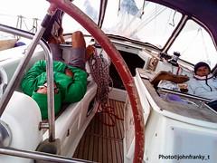 Un riposino durante la navigazione - A nap during the navigation (2) (johnfranky_t) Tags: navigazione johnfranky t cime tendalino timone vela traversata del tirreno occhiali telefonino mare