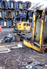 Demise of Class 50, 50025 -  Number 2 (photofitzp) Tags: 50025 class50 englishelectric hoovers scrapyards vicberry warships