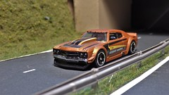 Chevy on the Highway. (ManOfYorkshire) Tags: 1970chevy chevrolet chevelle chevelless repainted detailed hw hotwheels 164 diecast toy model car nightburnerz