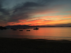 Light show over Paros (Wendy:) Tags: boats cyclades aegean island paros explored sunset