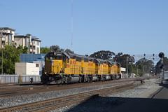 Sunday Morning Fuel Run (imartin92) Tags: emeryville california unionpacific railroad railway freight train locomotive emd gp402 1485 1486 696
