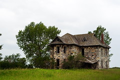 The Wright House (TigerPal) Tags: saskatchewan sask prairie plains abandoned forgotten dustyroad gravelroad ruin ruraldecay rural backroads exploration abernethy wrighthouse stone fieldstone