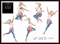 NEW! Bento Jump Set Pose Fair Exclusive! (Anastassiana   Ana Boutique SL) Tags: sl secondlife posing poses bento anaboutique virtualworld maitreya catwa argrace blueberry reign posefair exclusive blogging jumping jump fun