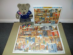 Dickin's Lundun wiv a wiggly edge (pefkosmad) Tags: jigsaw puzzle wood wooden plywood charlesdickens london dickenslondon pastime hobby leisure mandolinpuzzles complete used secondhand tedricstudmuffin teddy ted bear animal toy cute cuddly plush fluffy soft stuffed scenes novels characters handcut