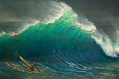 The Shore of the Turquoise Sea, Albert Bierstadt, 1878, detail (skaradogan) Tags: detroit dia michigan art detroitinstituteofarts water sea turquoise waves wreck shipwreck openlateonfridaynights hokusai nikon d40x nikon50mmf14 explore