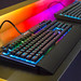 RGB keyboards for gamers at Corsair's booth at Gamescom 2018