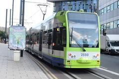 CT 2550 @ West Croydon bus station (ianjpoole) Tags: croydon tramlink bombardier cr4000 2550 working service from wimbledon elmers end
