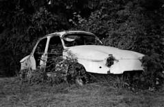 Éloie (hugobny) Tags: old car éloie abandonned gr5 belfort montbéliard film 35mm fp4 ilford blackwhite caffenol cl stand p30 pentax pentaxp30 smc 50mm f17 negative epson v600