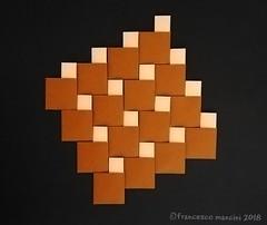 Pythagoras' parquet (mancinerie) Tags: origami modularorigami paperfolding papiroflexia papierfalten francescomancini mancinerie tessellation pythagoras square