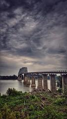 bridging the gap....(HSS) (BillsExplorations) Tags: shawneetown salt coal bridge port ohioriver shawneetownbridge slide sliderssunday cantileverbridge trussbridge kentucky illinois oldshawneetown shawneenationalforest abrahamlincoln