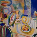 Robert Delaunay, Portuguese Still Life, 1916, Oil on canvas 8/7/18 #dallasmuseumart #artmuseum thumbnail