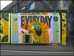 Everyday Life, Lower Trinity Street, Digbeth, Birmingham (Wagsy Wheeler) Tags: digbeth birmingham streetart streetscene graffiti everydaylife art publicart railwayviaduct viaduct paint lowertrinitystreet lowertrinityst