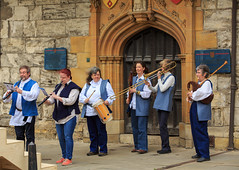 York Mystery Plays 2018 (alh1) Tags: collegegreen waggonplays yorkmysteryplays2018 england northyorkshire york musicians