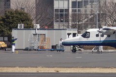 A SMALL AIRPORT, SOME PARKS AND CLOUDS - CLXXIII (Jussi Salmiakkinen (JUNJI SUDA)) Tags: chofu tokyo japan cityscape park airport sky aircraft wood airplane landscape tama 調布 飛行場 空港 林 森 空 武蔵野 多摩 東京 日本 風景 clouds spring 2018 maaliskuu turboprop dornier do228 apron