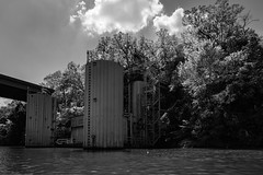 Man-made stuff on the Cumberland River-10 (mmulliniks) Tags: sony alpha a73 a7iii 24105 river water sky clouds landscape explore boat barge industry bridge waves hills wide outside nashville cumberland metabones sigma zeiss prime zoom