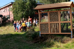 een vak werd gevuld! (regionaal landschap Schelde-Durme) Tags: waasmunster kinderen pdpo lia natuurbeleving hooiland speelnatuur landschap landbouw biodiversiteit samenwerken dieren bijen bijenhotel