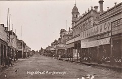 High Street, Maryborough, Victoria - very early 1900s (Aussie~mobs) Tags: vintage victoria australia georgelucasco street stops stores buildings streetscape maryborough highstreet thomaswebbco draper stationer importer aussiemobs