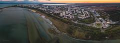 Burgas by sunset (Lulchev) Tags: burgas bulgaria atanasovsko lake sky sunset city blacksea old