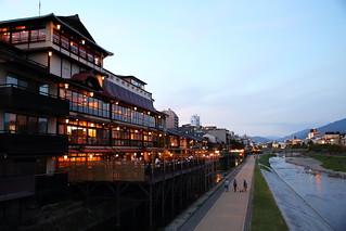 Kyoto Kamogawa riverside
