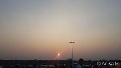 August 24, 2018 - Smoke colors the sunrise and the horizon. (Anika H)
