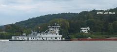 M/V Linda Reed (jimross90) Tags: crounsecorp towboat ohioriver barge water sky huntington westvirginia wv chesapeake ohio