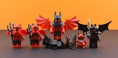 Random minifigs #3 : 👿Demons😈 (Alex THELEGOFAN) Tags: lego legography minifigure minifigures minifig minifigurine minifigs minifigurines devil gremlin demon dark red hell man woman boy black evil random figbarf