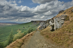 Downward Path (Bri_J) Tags: stanageedge peakdistrict nationalpark hathersage derbyshire uk hdr countryside nikon d7200 sky clouds path rocks hill