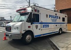 NYPD Life Safety Systems Division Electronics Section Frieghtliner Mobile Command Post (NY's Finest Photography) Tags: highway patrol state nypd fdny ems police law enforcement ford dodge swat esu srg crc ctb rescue truck nyc new york mack tbta chevy impala ppv tahoe mounted unit service squad dcu