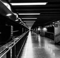 Perspective de voyage (misterblue66) Tags: a6000 sony garedumidi bruxelles brussels bn bw noiretblanc nb vanishinh profondeur perspective diagonale diagonal blackwhite