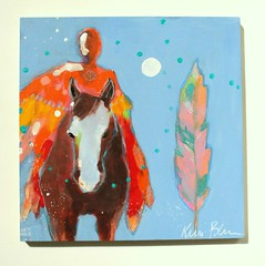 Spirit Way (Kerri Blackman) Tags: horses figurepainting angel spiritual originalart colorful outsiderart intuitivepainting
