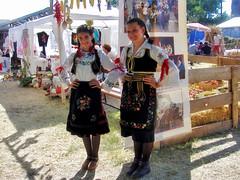 Two Girls in Traditional Folk Serbian Costumes (Superoperater hero) Tags: 2012 berbagrozdja daniberbe predstava putovanja smederevo smederevskajesen smederevskatvrdjava srbija tvrdjava vasar