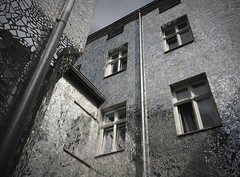 House of Mirror (roomman) Tags: 2018 lodz poland industry culture history past story lost place lostplace industrial town city cities towns textile factory mirror hous ereflect reflection bw black white contrast monochrome design style art blakc bandw architecture tile tiles house facade building window