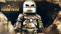 LEGO MCU First 10 Years : Iron Man MK 1 Teaser (MGF Customs/Reviews) Tags: lego iron man mk 1 tony stark robert downey jr 2008 custom figure minifigure