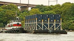 The Lookout (thetrick113) Tags: captaind tugboatcaptaind norfolktugcompany tugboat hellgate newyorkcity city barge deckbarge garbagebarge workingvessel vessel sonyslta65v eastcoast randallsisland marine container