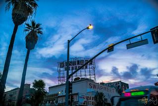 Purple Skies over Westlake Theater