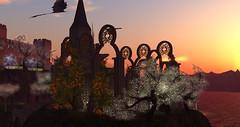 Avilion Grove : Wedding Scout & Emre (Osiris LeShelle) Tags: secondlife second life avilion grove wedding ceremony scout emre chapel sim sunset sky