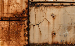 Diffidence (Junkstock) Tags: aged abandoned abstract abstraction california corrosion corroded craquelure decay distressed decayed lines rust rusty rusted rustyandcrusty textures texture vista weathered
